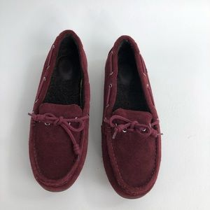 Cole Haan Grand  Os Driving Moccasins Burgundy 7